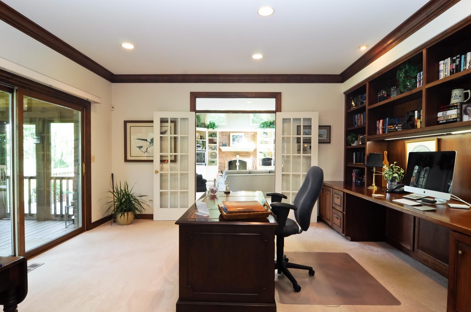 Real Estate Photography - 22822 Glenhurst Rd, Deer Park, IL, 60010 - Office