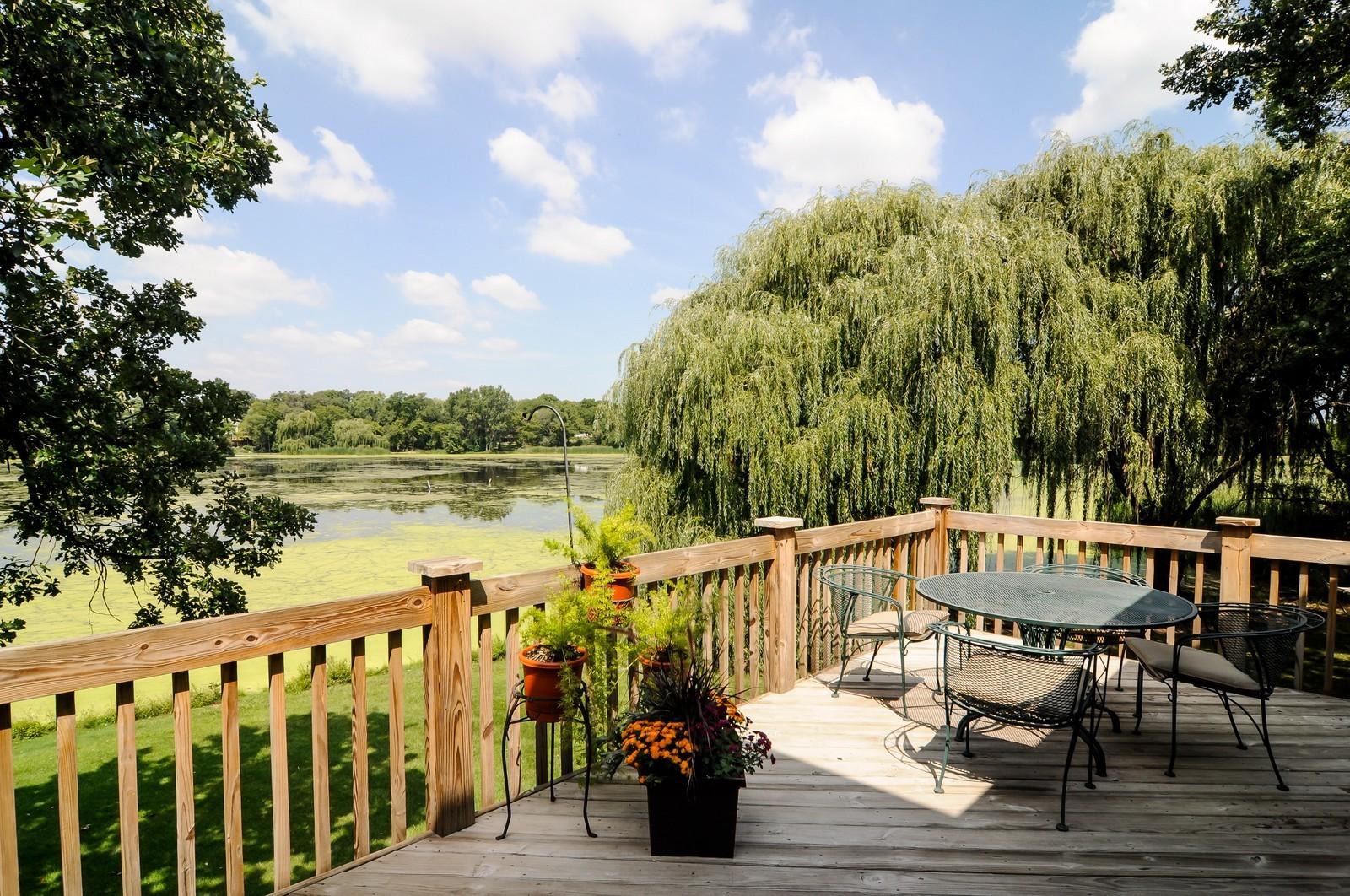 Real Estate Photography - 22822 Glenhurst Rd, Deer Park, IL, 60010 - Deck
