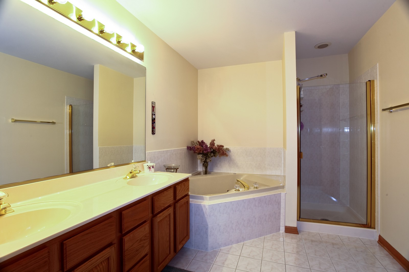 Real Estate Photography - 860 McKenzie Station Dr, Lisle, IL, 60532 - Master Bathroom