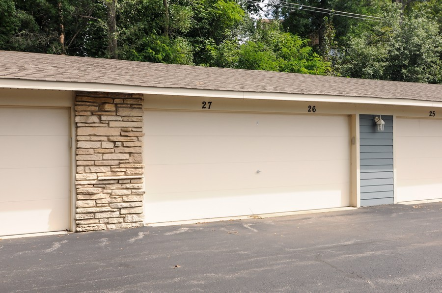 Real Estate Photography - 300 Opatrny Dr, Unit 205, Fox River Grove, IL, 60021 - Garage