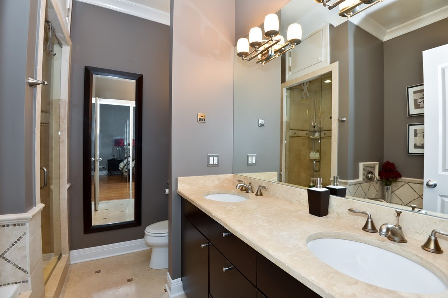 Real Estate Photography - 2512 North Racine Ave, D, CHICAGO, IL, 60614 - Master Bathroom