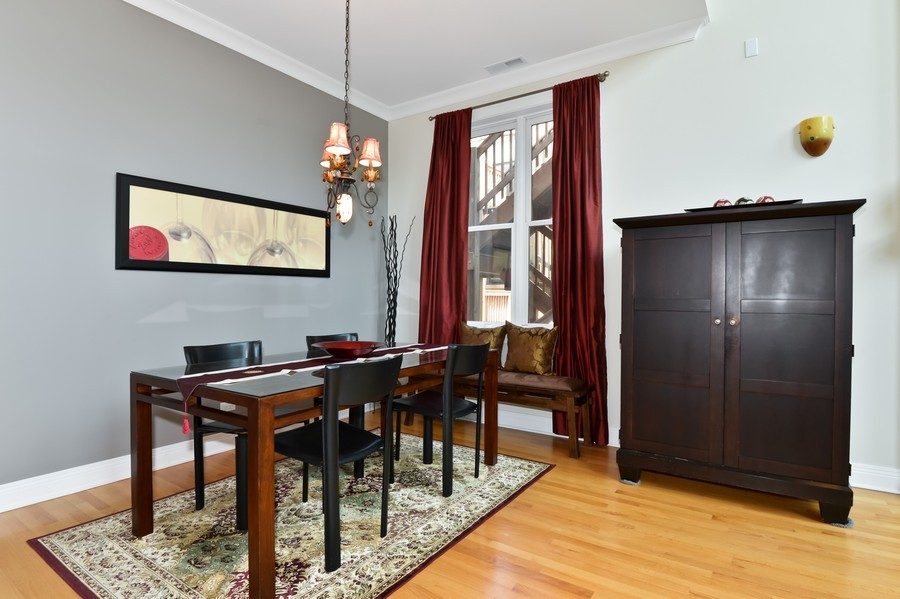 Real Estate Photography - 2512 North Racine Ave, D, CHICAGO, IL, 60614 - Dining Room