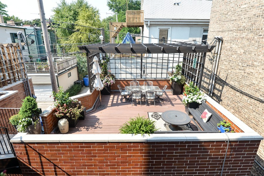 Real Estate Photography - 2512 North Racine Ave, D, CHICAGO, IL, 60614 - Sundeck