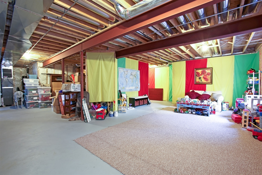Real Estate Photography - 436 Davis, Downers Grove, IL, 60515 - Basement Play Area