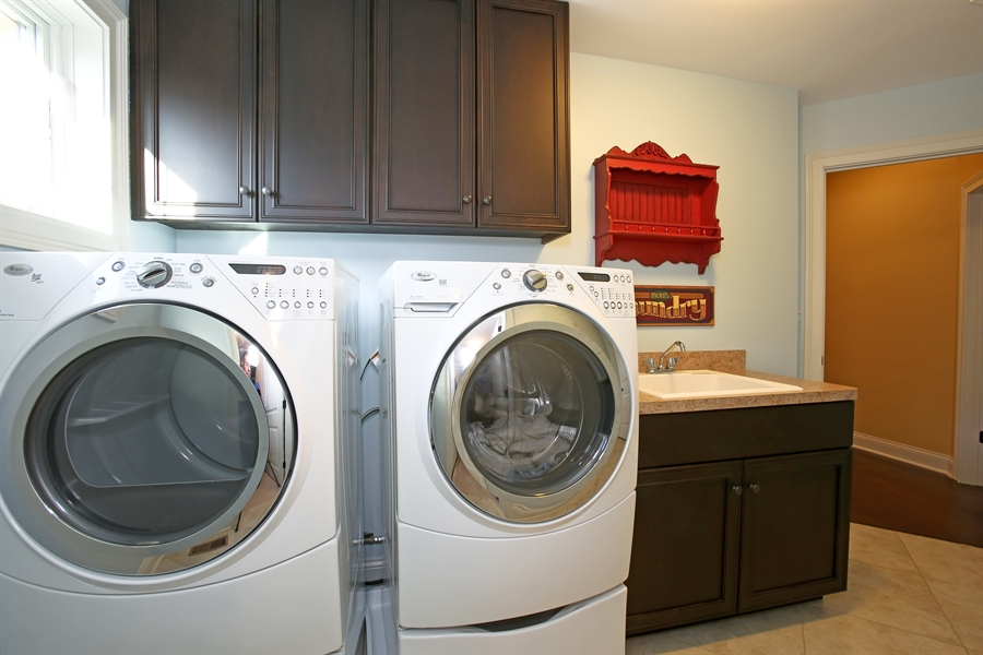 Real Estate Photography - 436 Davis, Downers Grove, IL, 60515 - Second Floor Laundry