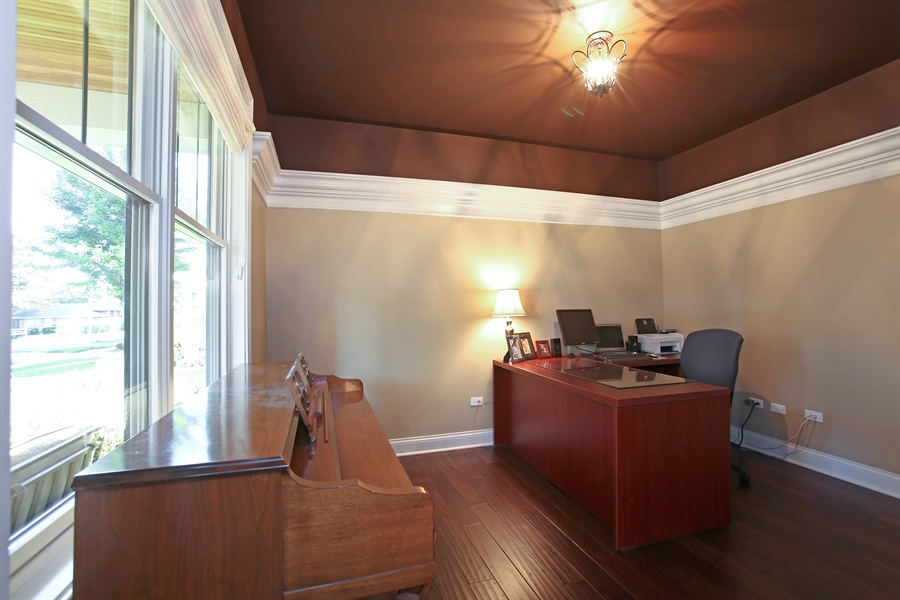 Real Estate Photography - 436 Davis, Downers Grove, IL, 60515 - First Floor Office