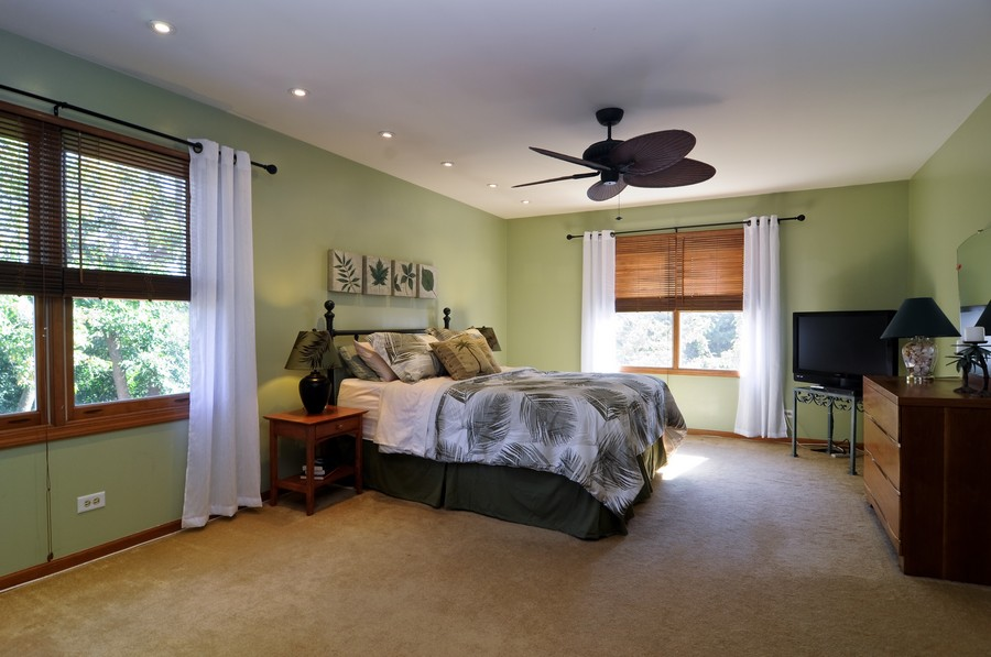 Real Estate Photography - 151 Deer Lane, Barrington, IL, 60010 - Master Bedroom