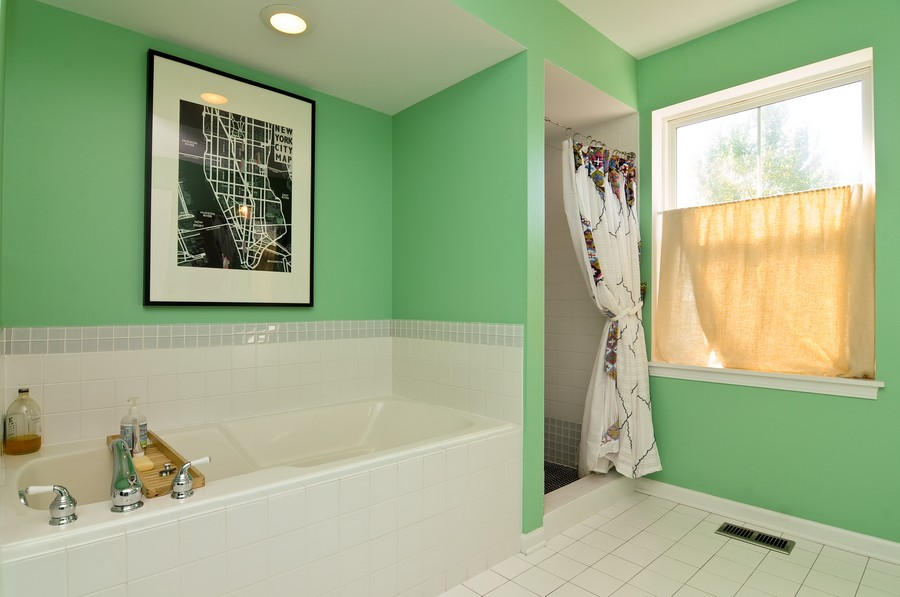 Real Estate Photography - 1403 Sunflower Ct, Grayslake, IL, 60030 - Master Bathroom