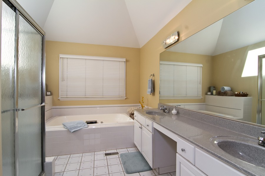 Real Estate Photography - 6521 Greene Rd, Woodridge, IL, 60517 - Master Bathroom