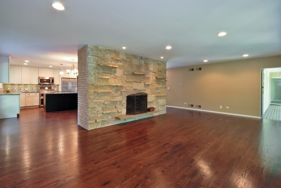 Real Estate Photography - 3661 Saratoga, Downers Grove, IL, 60515 - Family Room / Kitchen
