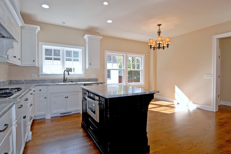 Real Estate Photography - 943 North Main St, Naperville, IL, 60563 - Custom Luxury Kitchen With Island
