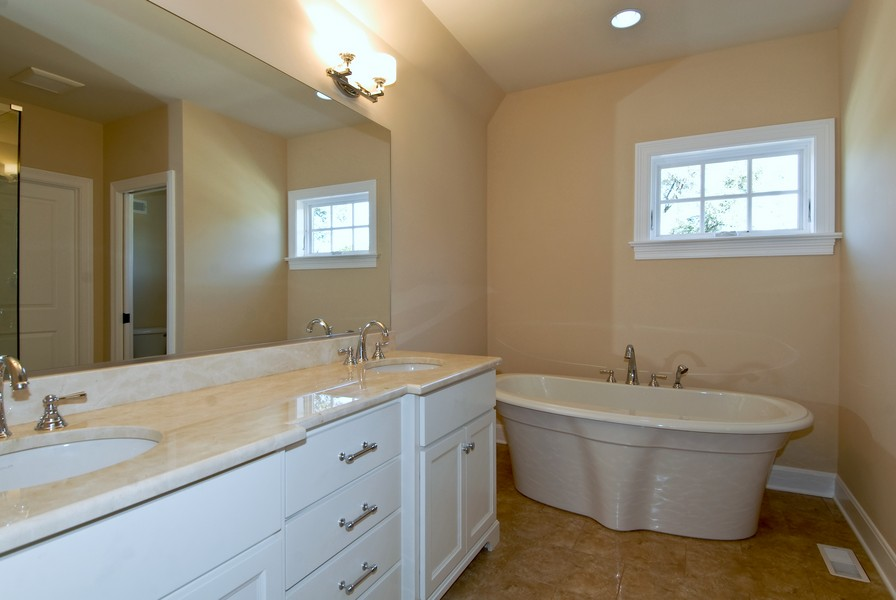 Real Estate Photography - 943 North Main St, Naperville, IL, 60563 - Master Bathroom