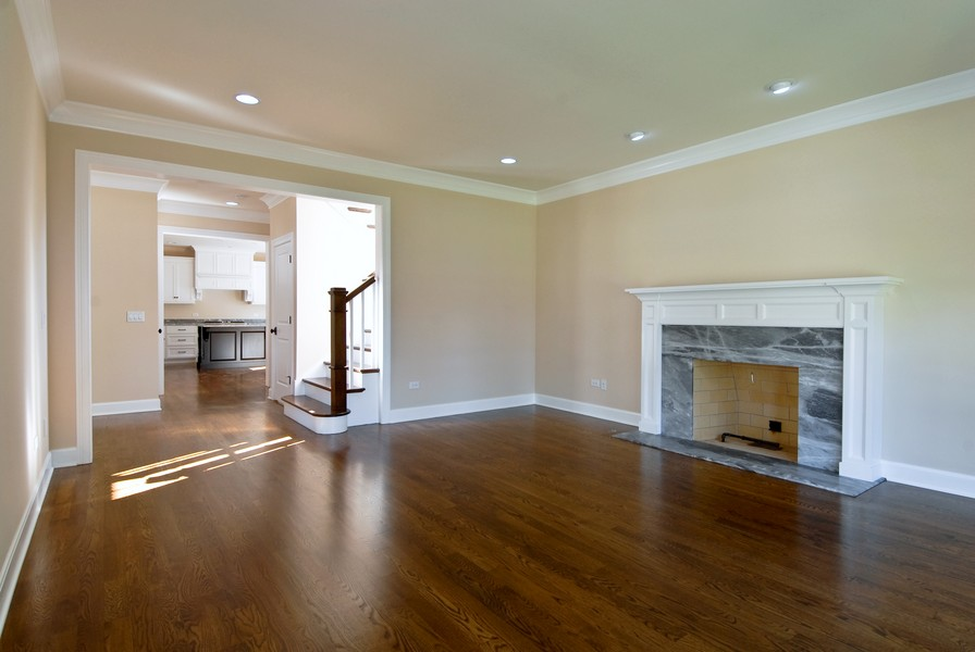 Real Estate Photography - 943 North Main St, Naperville, IL, 60563 - Family Room With Fireplace
