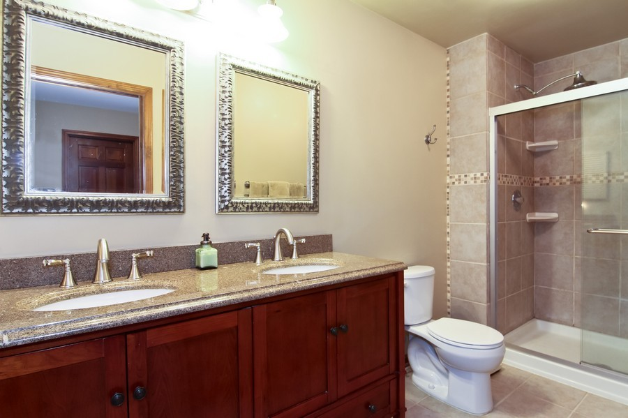 Real Estate Photography - 1016 Buckingham Dr, Naperville, IL, 60563 - Master Bathroom