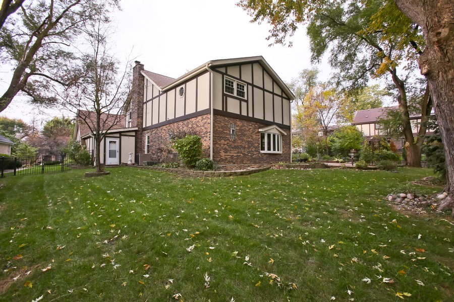 Real Estate Photography - 8001 Winter Cir, Downers Grove, IL, 60516 - Rear View