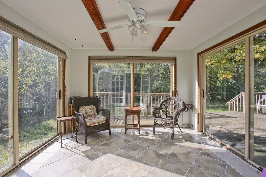 Real Estate Photography - 426 Blackhawk Dr, Westmont, IL, 60559 - Sun Room