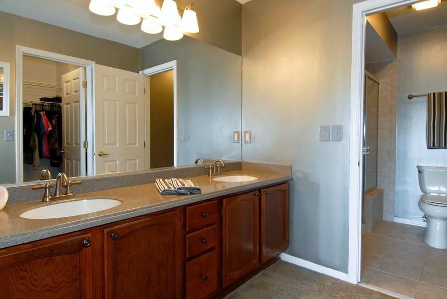 Real Estate Photography - 12 Lakewood Cir, 12, St. Charles, IL, 60174 - Master Bathroom