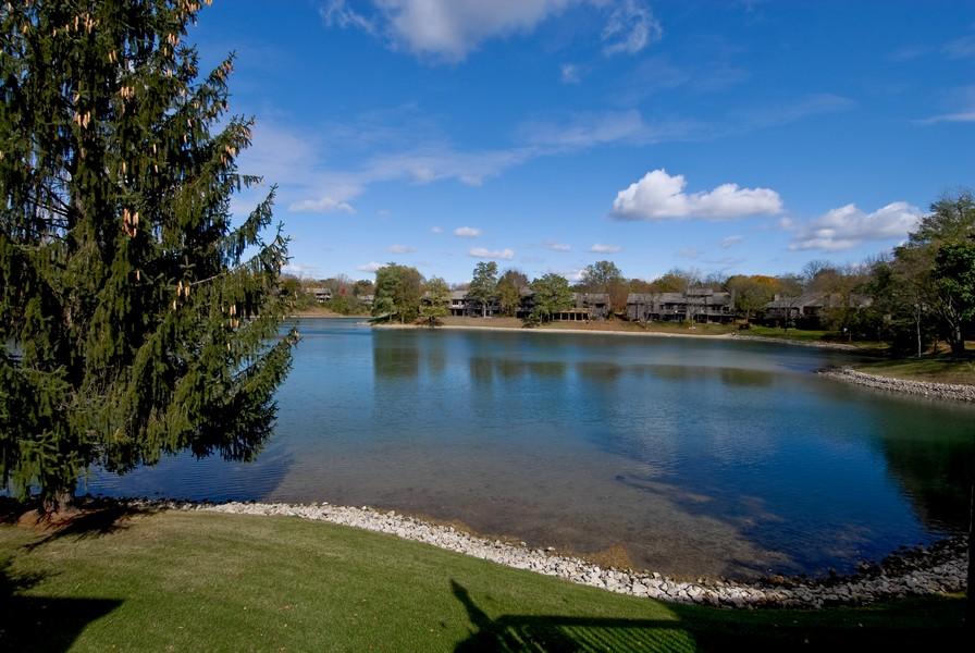 Real Estate Photography - 12 Lakewood Cir, 12, St. Charles, IL, 60174 - Lake view!
