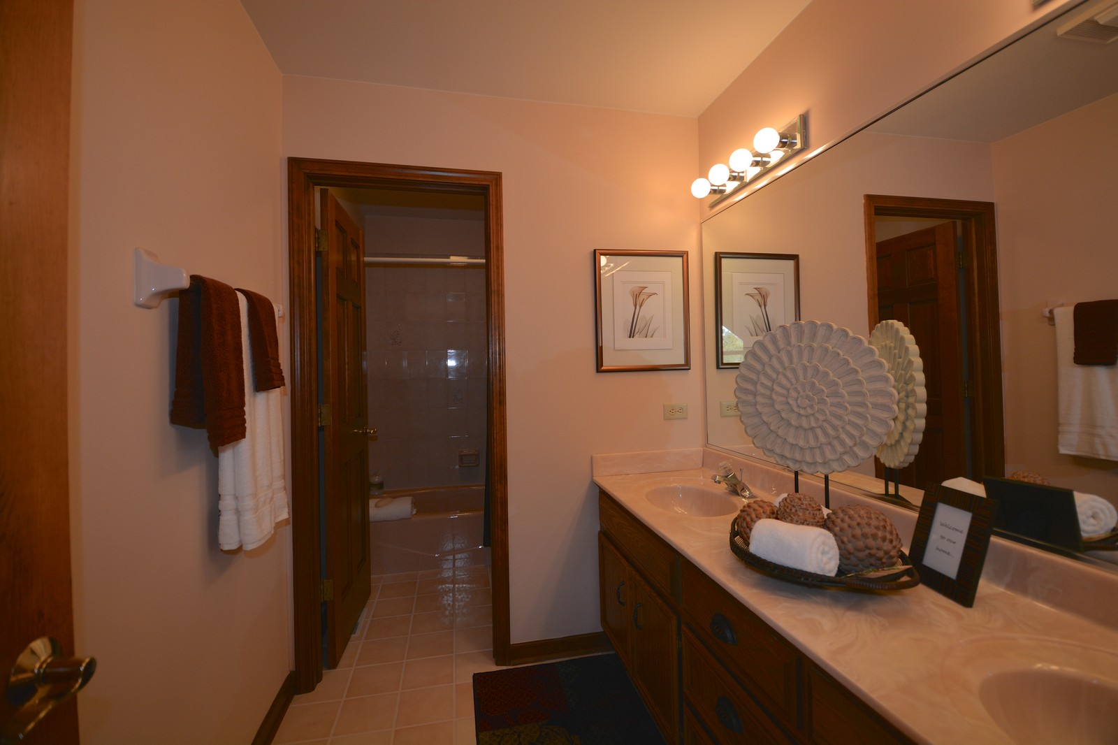 Real Estate Photography - 24060 Royal Worlington Dr, Naperville, IL, 60564 - Hall Bathroom