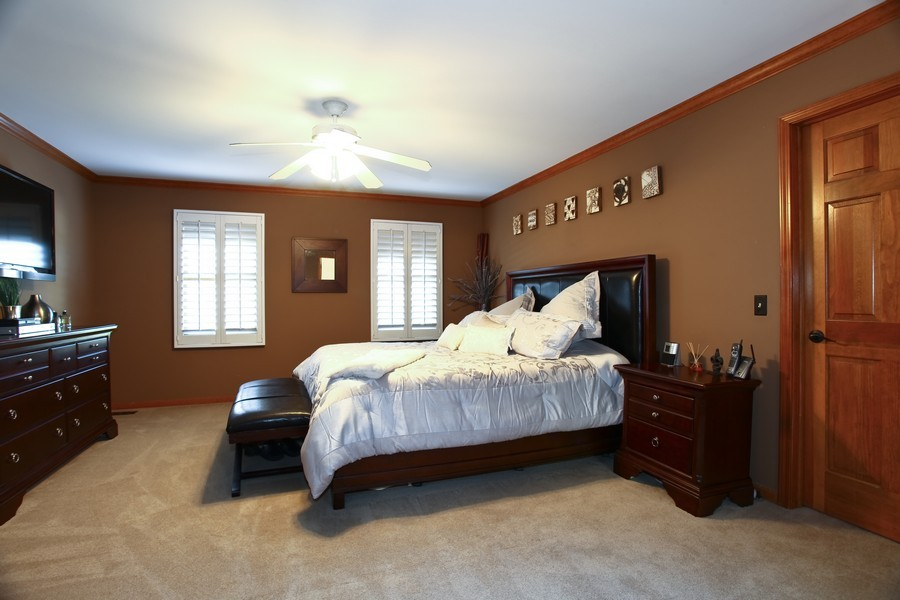Real Estate Photography - 1508 Meadowland Dr, Naperville, IL, 60540 - Master Bedroom