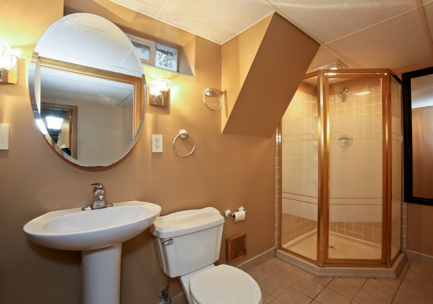 Real Estate Photography - 5621 Plymouth, Downers Grove, IL, 60516 - 2nd Bathroom