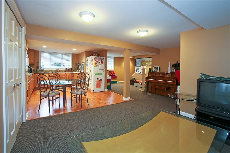 Real Estate Photography - 15 Shelburne Dr, Oak Brook, IL, 60523 - Lower Level Rec Room