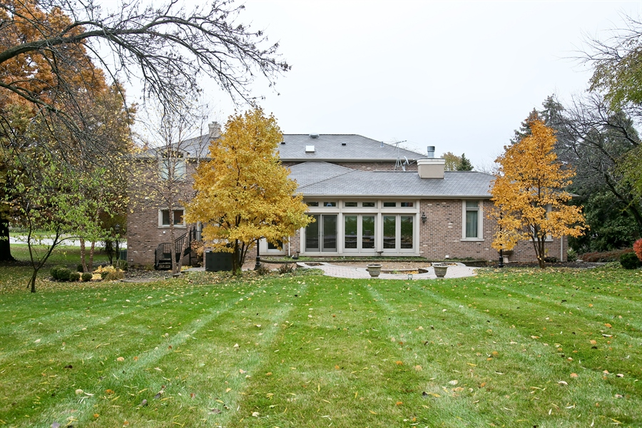 Real Estate Photography - 15 Shelburne Dr, Oak Brook, IL, 60523 - Back View of Home