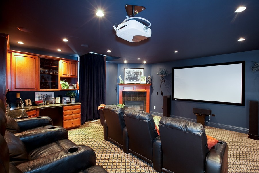 Real Estate Photography - 15 Shelburne Dr, Oak Brook, IL, 60523 - Theater