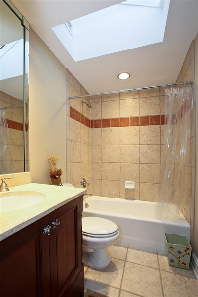 Real Estate Photography - 15 Shelburne Dr, Oak Brook, IL, 60523 - 2nd Floor Guest Bathroom