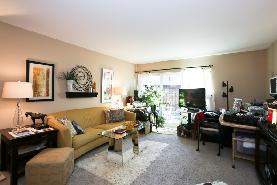 Real Estate Photography - 545 Burlington Ave, 106E, Downers Grove, IL, 60515 - Living Room
