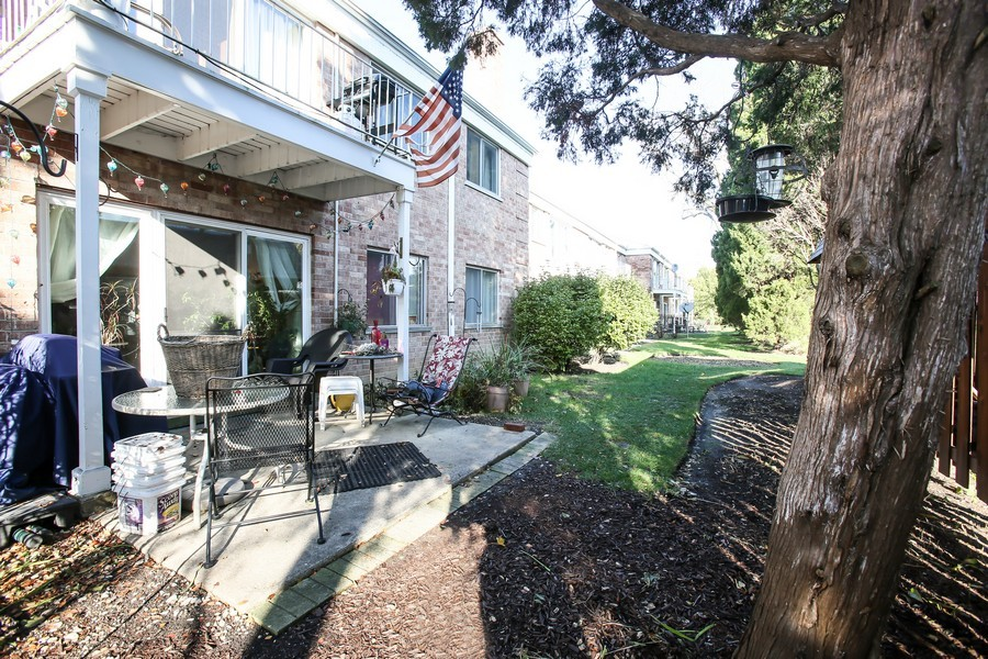Real Estate Photography - 545 Burlington Ave, 106E, Downers Grove, IL, 60515 - Patio