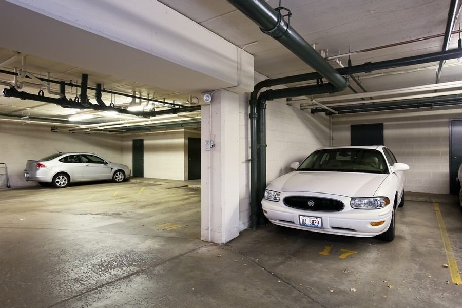 Real Estate Photography - 100 N Gary Ave, Unit 409, Wheaton, IL, 60187 - Garage