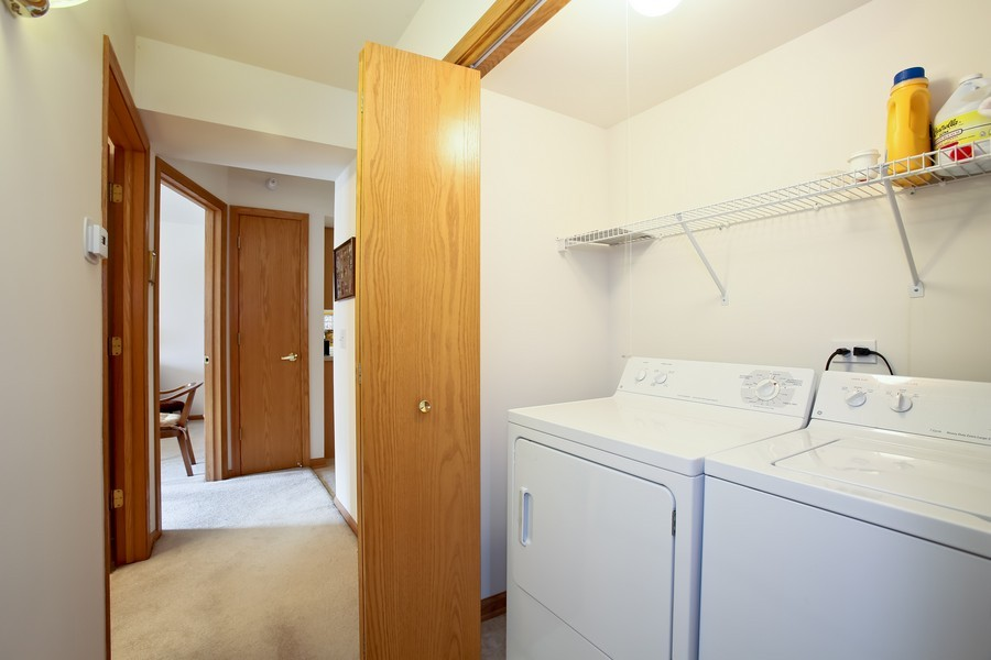 Real Estate Photography - 100 N Gary Ave, Unit 409, Wheaton, IL, 60187 - Laundry Area