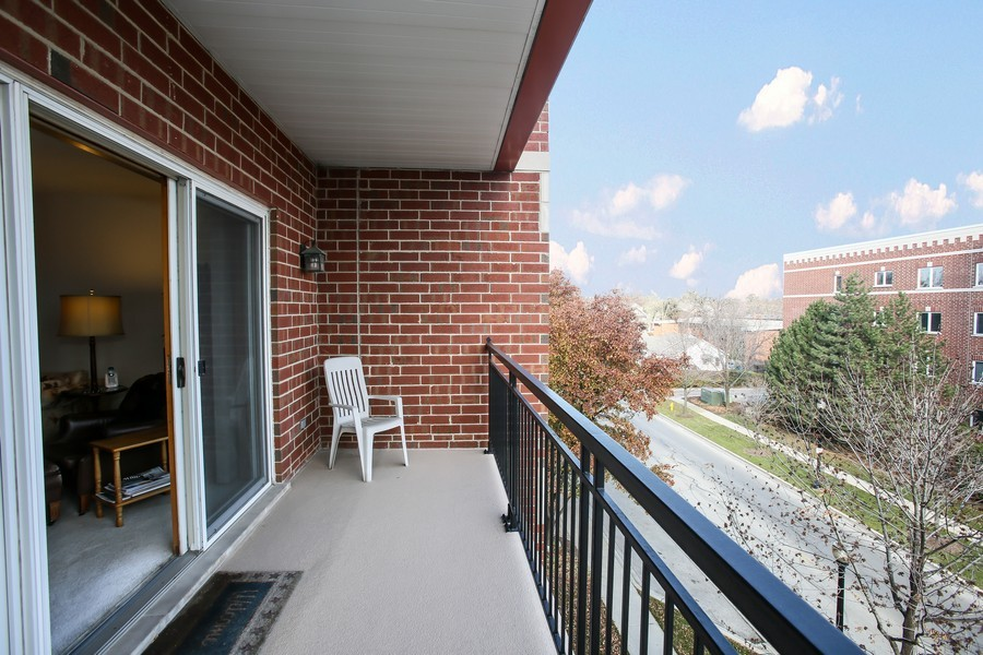 Real Estate Photography - 100 N Gary Ave, Unit 409, Wheaton, IL, 60187 - Balcony