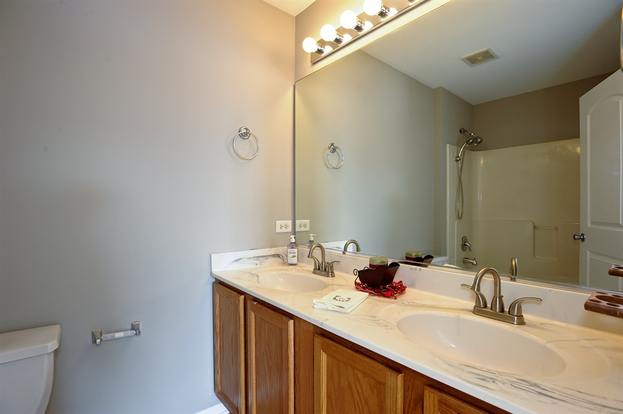 Real Estate Photography - 103 East Meadow Dr, Cortland, IL, 60112 - Master Bathroom