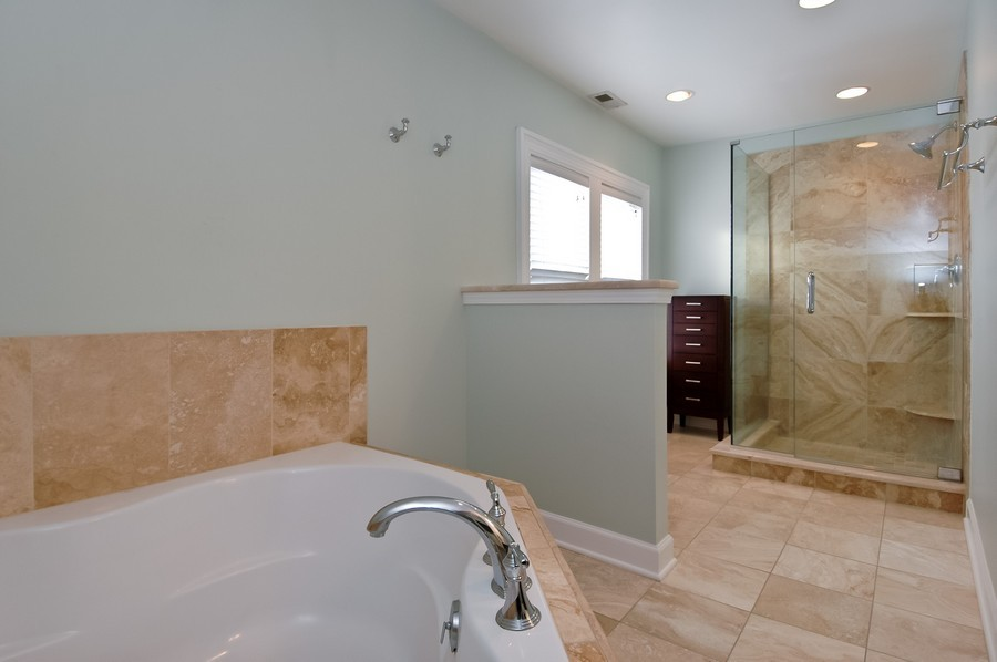 Real Estate Photography - 213 West Lincoln Ave, Barrington, IL, 60010 - Master Bathroom