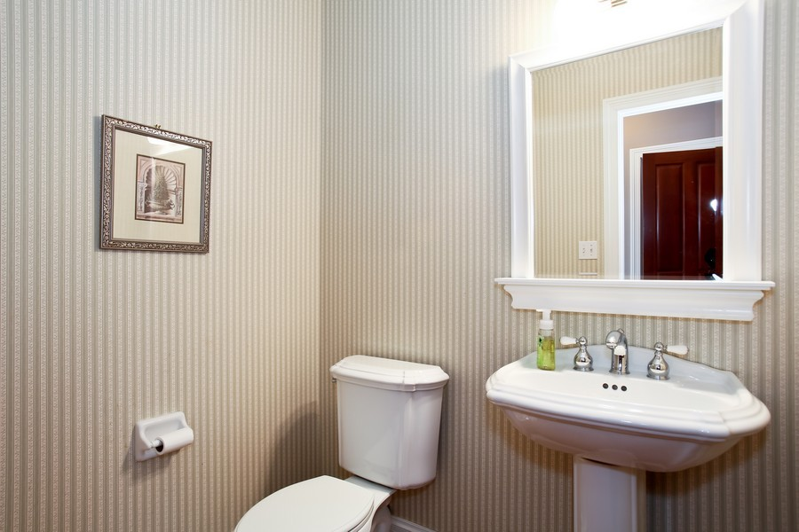 Real Estate Photography - 4712 Seeley AVE, Downers Grove, IL, 60515 - 1st Floor Powder Room