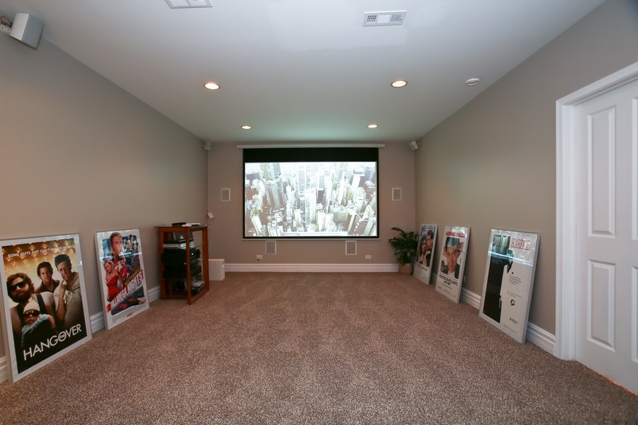 Real Estate Photography - 4712 Seeley AVE, Downers Grove, IL, 60515 - Media Room