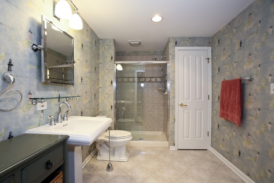 Real Estate Photography - 4712 Seeley AVE, Downers Grove, IL, 60515 - Basement Bath