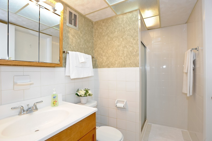 Real Estate Photography - 1105 Royal St George Dr, 101, Naperville, IL, 60563 - Master Bathroom