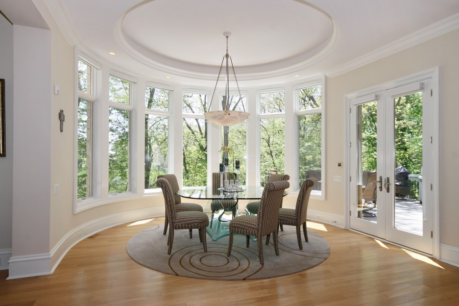 Real Estate Photography - 19 Baybrook Ln, Oak Brook, IL, 60523 - Rotunda Breakfast Room