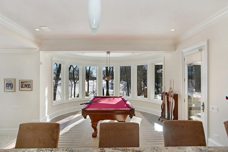 Real Estate Photography - 19 Baybrook Ln, Oak Brook, IL, 60523 - Billiard Room