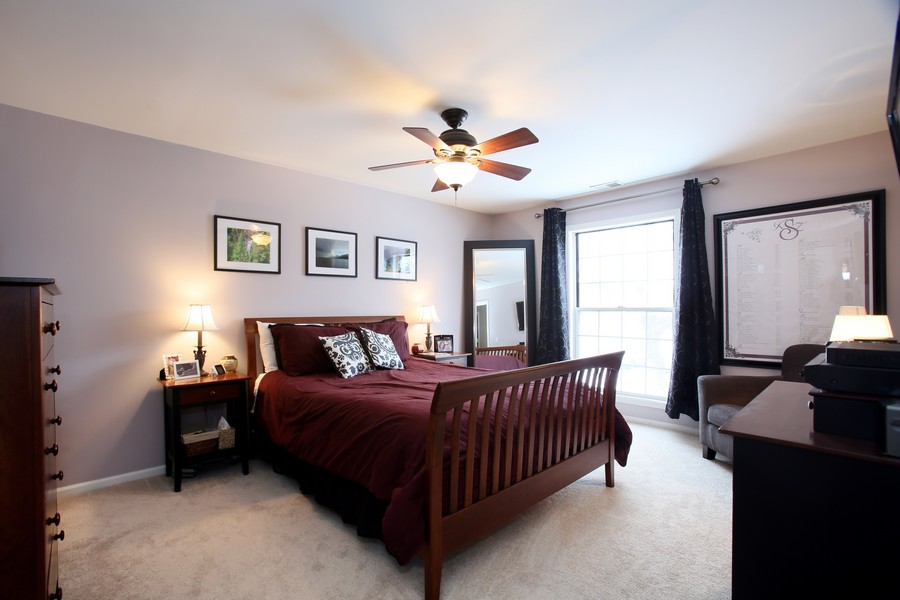 Real Estate Photography - 2247 Petworth Ct, 202D, Naperville, IL, 60565 - Master Bedroom