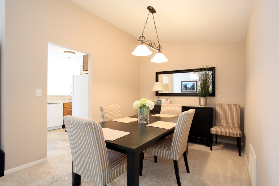 Real Estate Photography - 2247 Petworth Ct, 202D, Naperville, IL, 60565 - Dining Room