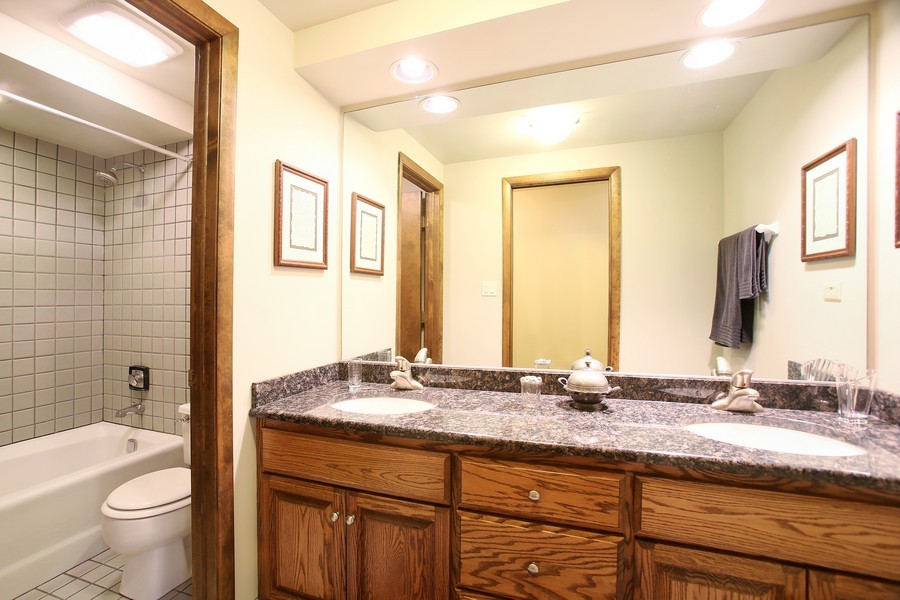 Real Estate Photography - 1433 Grant St, Downers Grove, IL, 60515 - 2nd Bathroom