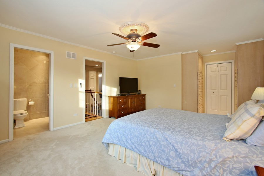 Real Estate Photography - 820 Morningside Dr, Naperville, IL, 60563 - Master with Private Bath