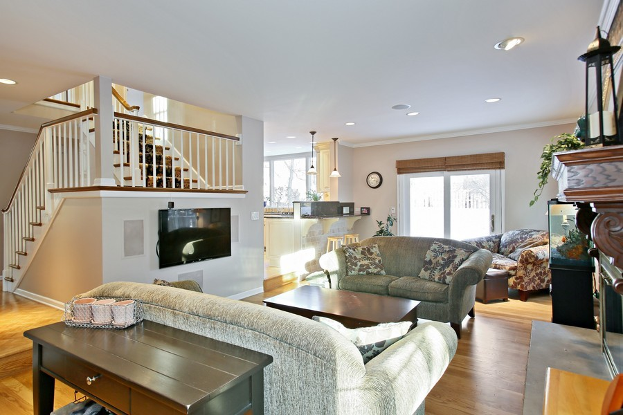 Real Estate Photography - 820 Morningside Dr, Naperville, IL, 60563 - Family Room and Eating Area