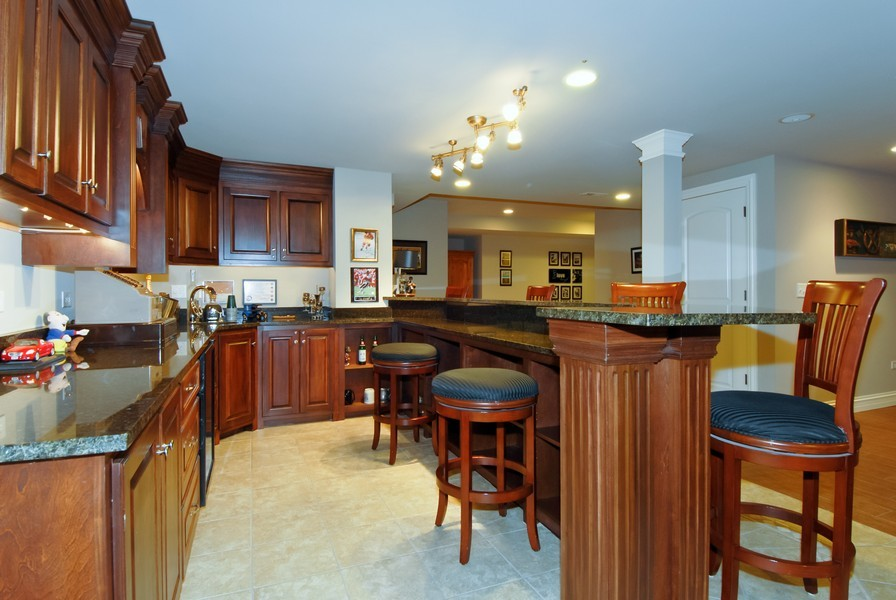 Real Estate Photography - 4164 Callery Rd, Naperville, IL, 60564 - Custom Wet Bar perfect for Entertaining!