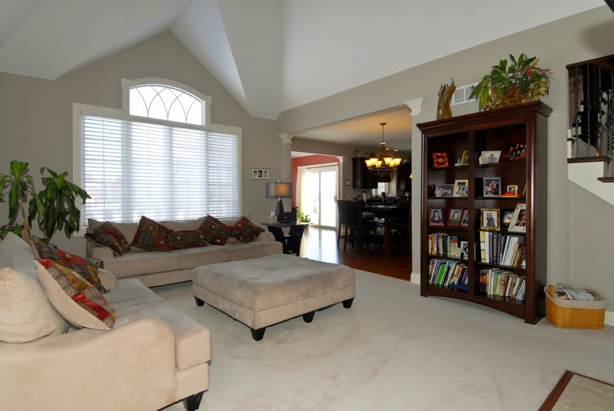 Real Estate Photography - 4164 Callery Rd, Naperville, IL, 60564 - Family Room opens to Kitchen!