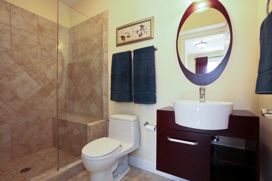 Real Estate Photography - 251 N Park, Westmont, IL, 60559 - 3rd Bathroom